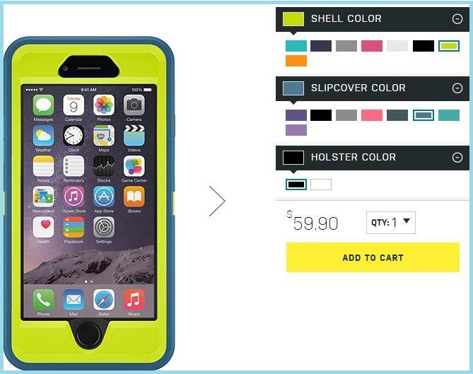 Otter Offer Price for Custom iPhone 6 case