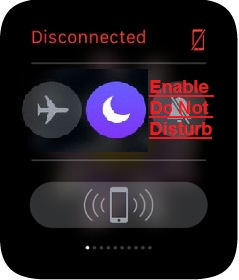 Enable or Disable apple watch Do not disturb