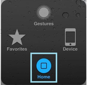 Home button inside the Assistive touch options