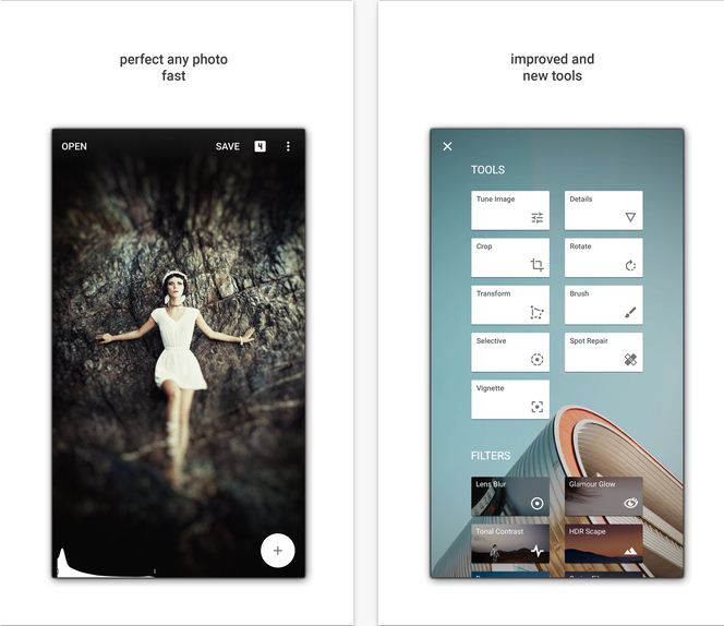 SnapSeed By google photography app for iPhone