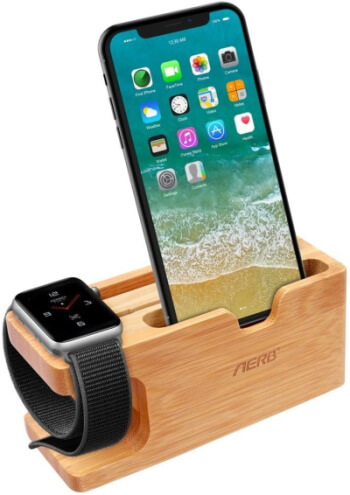Aerb Wooden Stand for Watch and iPhone