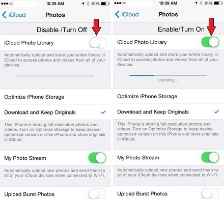 How to Turn on iCloud Photo library on iPhone and iPad