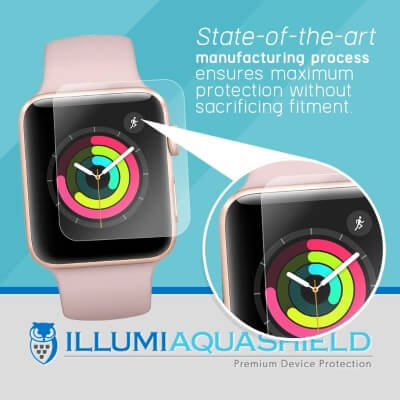 ILLUMI AquaShield Screen Protector Compatible with Apple Watch