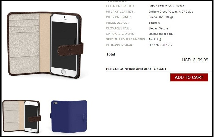 Custom Leather case for iPhone 6 and iPhone 6 plus