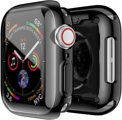 Smiling Apple Watch 4 Case with Buit in TPU Screen Protector 40mm