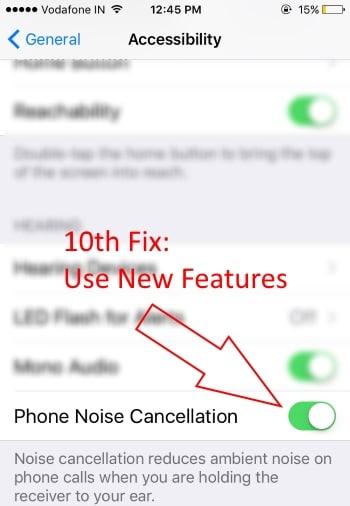 Low Speaker volume Phone noise Cancellation