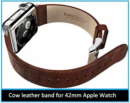 Cow leather band for 42mm Apple Watch