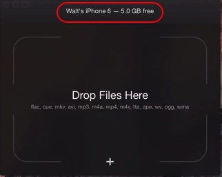 Drop file from Mac to iPhone, iPad and iPod touch
