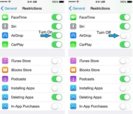 How to fix Airdrop missing on iPhone 6 or iPad with iOS 8.3