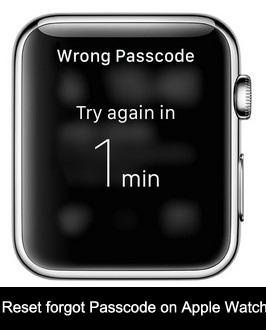 alternate way how to reset forgot Passcode on Apple watch