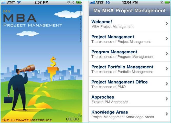 My MBA iOS Apps for project management
