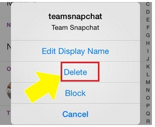how to delete someone on Snapchat without adding on iPhone 6