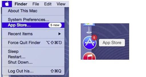 check updates manually on Mac OS X Yosemite, Mavericks and lion