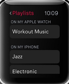 Sync Music from iPhone to apple watch
