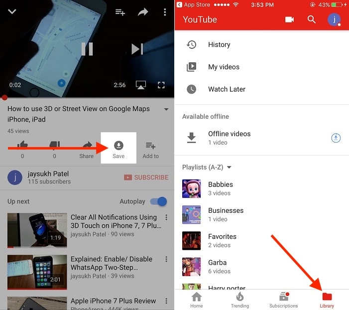 Save any YouTube video offline on iPhone & iPad for offline play