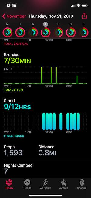 Activity App Data on iPhone-2