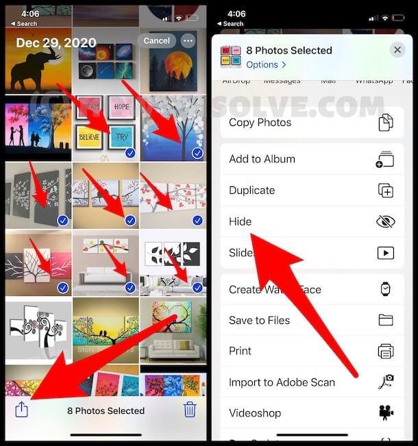 Photo album on iPhone