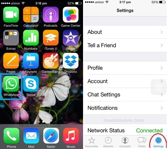 How to Change Chat wallpaper in WhatsApp on iPhone on iOS 8