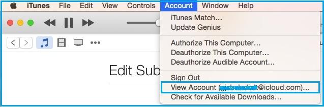 Stop or disable auto renew Apple Music on Mac OS X Yosemite, Mavericks
