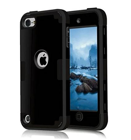 Hybrid Cover Silicone rubber case for iPod touch 6