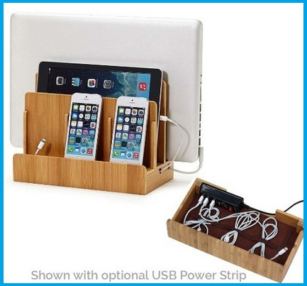 Wooden Stand with USB Multiport dock
