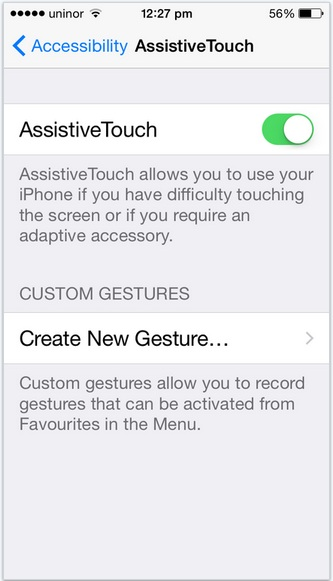 Custom Gestures in iPhone, iPad and iPod touch