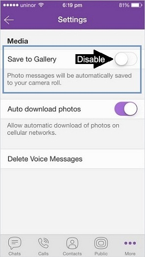 How to Stop Auto Saved photo of Viber Messages on iPhone, iPad – iOS 8