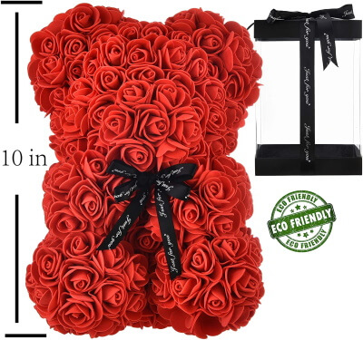Tall Giant Romantic Roze Teddy Gift all love
