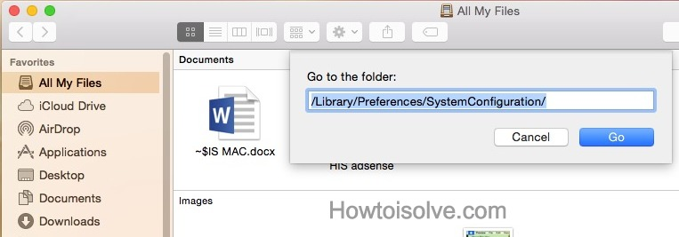 Remove Network Configuration and Preferences File from Mac