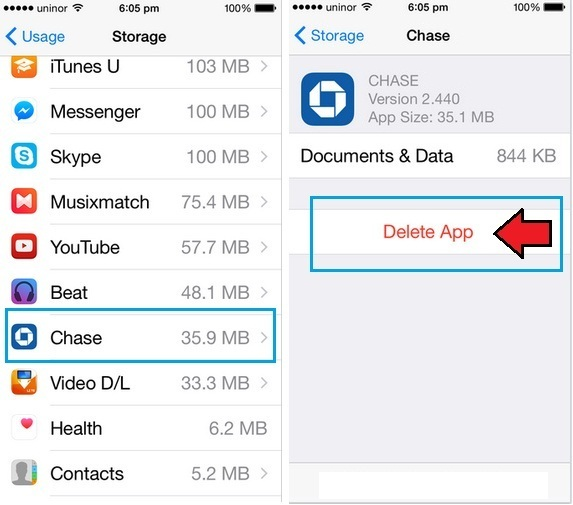 delete apps from iPhone and iPad permanently