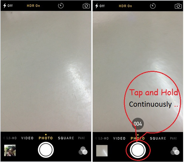 Capture multiple photos at once in iPhone, iPad and iPod touch