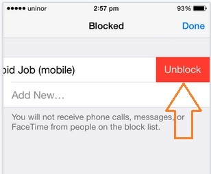 Unblock all the contact from iMessage