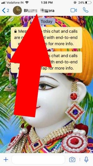 1 WhatsApp Profile settings on iPhone
