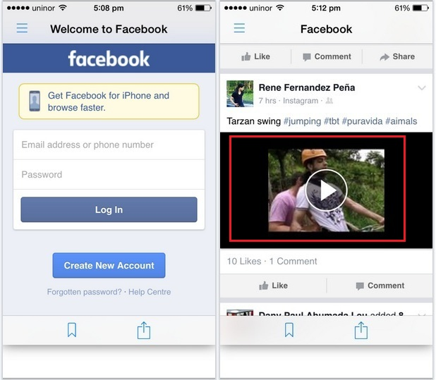 play and Start FB video download