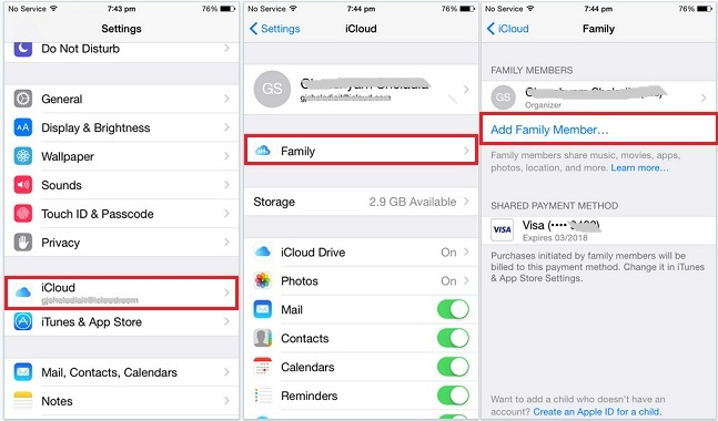 new Apple ID for purchase with same credit card through iPhone, iPad