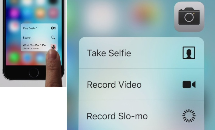 How to use 3D touch in iPhone 6S and iPhone 6S Plus