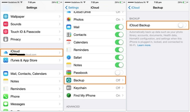 take backup on iCloud from iPhone, iPad, iPod TOuch