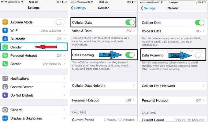 best way on How to turn off data roaming on iPhone 6, iPad Air 2, iPad Minii 3