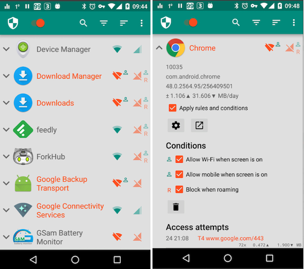 Restrict Data Usage on Android Mobile using app 2