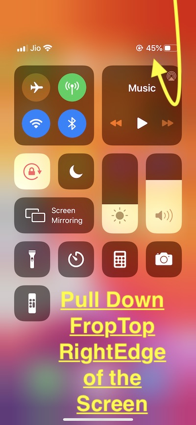 Show Battery Percentage on iPhone no Home button
