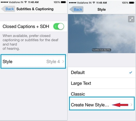 Steps how to Change YouTube Video Caption font color on iOS 9