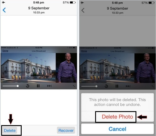 easy steps to How to delete Photos permanently in iOS 9, iPad Air, iPad Mini, iPhone 5S,iPhone 6S,6S Plus, 6, 6 Plus