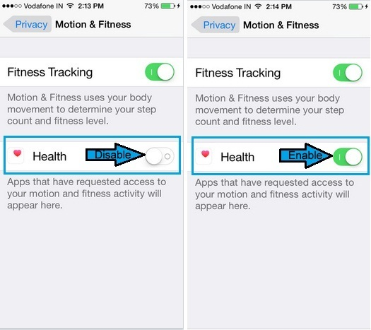 Follow given Alternate fix if health app not counting steps on iPhone 6, 6 Plus, iPhone 5,5S,5C,4S