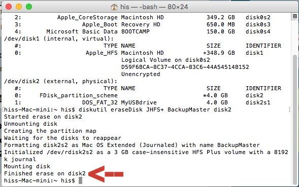 format pendrive in mac OS X Ei Capitan