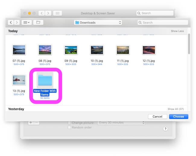 Import Folder for Desktop Background on MacBook