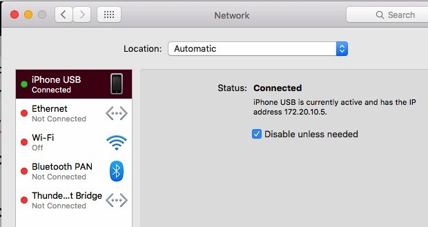 Fixed: USB personal hotspot not working on Mac