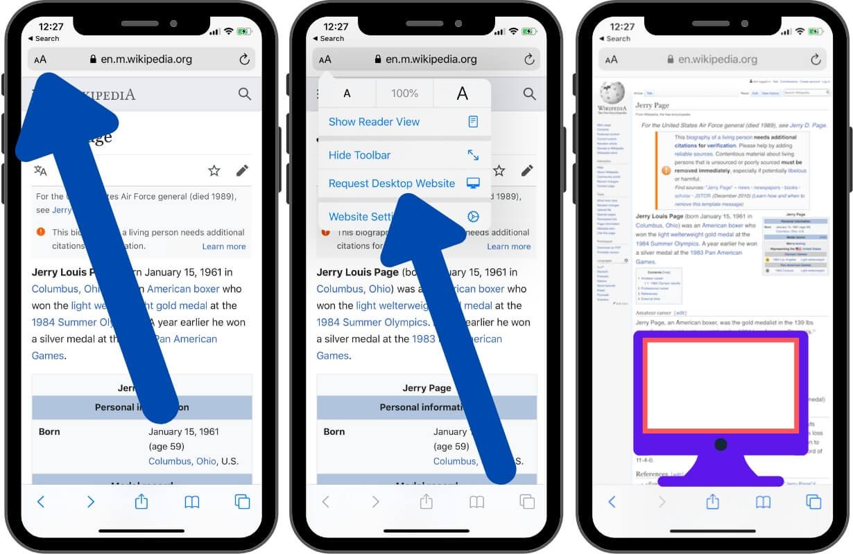 Request Desktop Website on iPhone and iPad