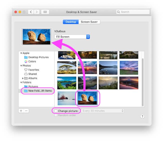Select Wallpaper for Set on MacBook Desktop Background