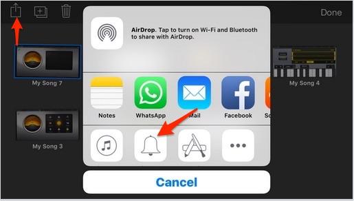 Set Garageband ringtone on iPhone