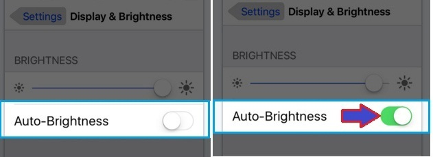 how to Turn on Auto brightness in iOS 9, iPhone, iPad, iPod Touch